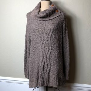 Anthropologie long length cowl neck sweater